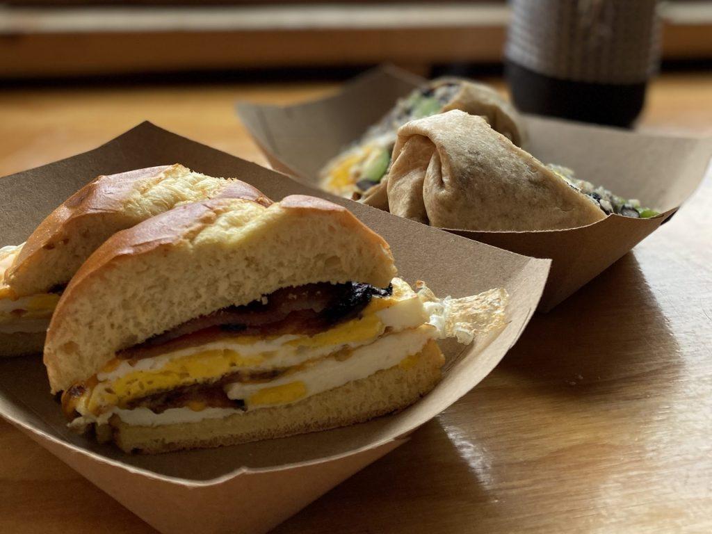 Bacon, Egg, and Cheese on a Brioche Bun